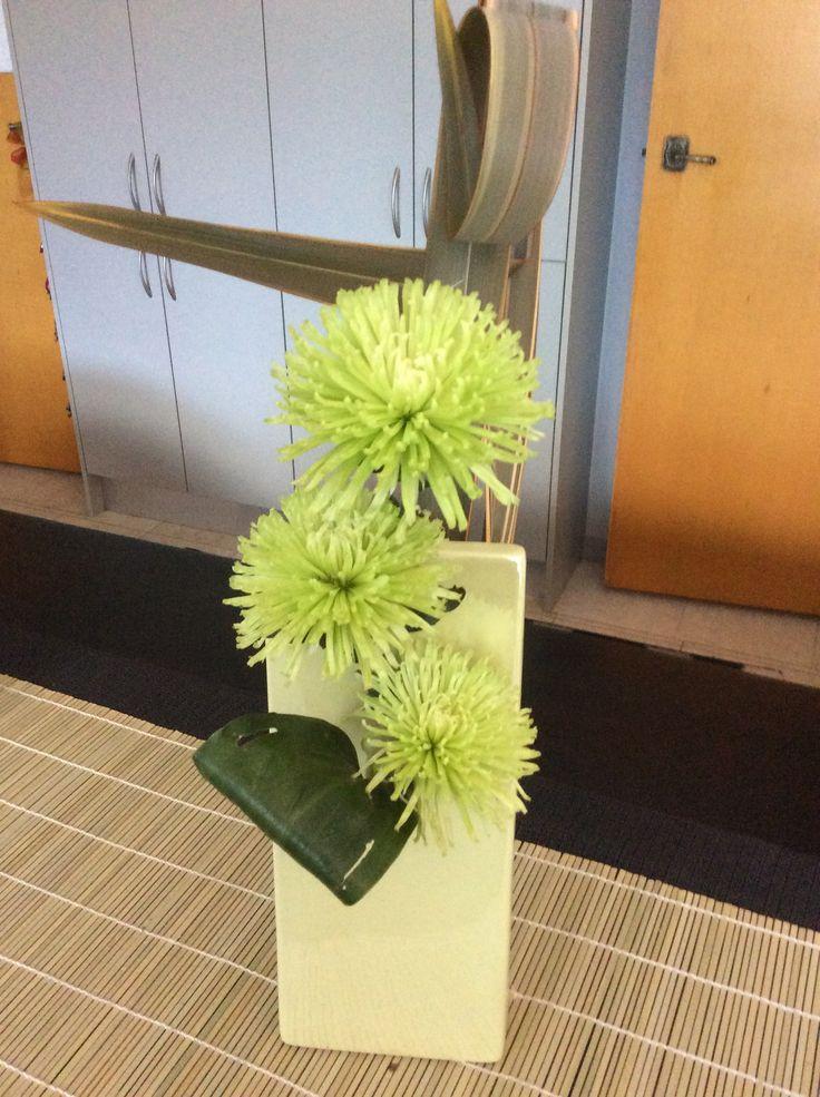 Chrysanthemum and flax