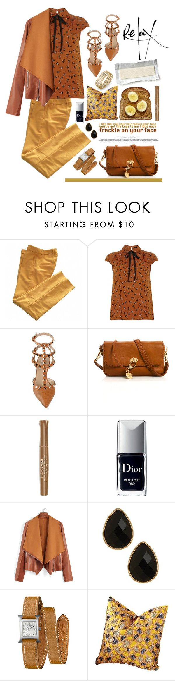 """25.04.16"" by malenafashion27 ❤ liked on Polyvore featuring Zara, Dorothy Perkins, Valentino, Henri Bendel, Bourjois, Christian Dior, Natasha Accessories, Hermès and Global Views"
