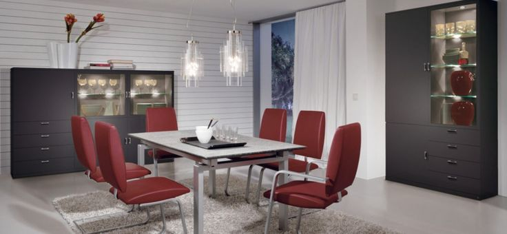 Modern Dining Room Ideas: Red Modern Dining Room Ideas ~ interhomedesigns.com Dining Room Designs Inspiration