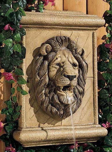 Lion Wall Plaque Fountain Headpool Fountainwall Fountainsoutdoor