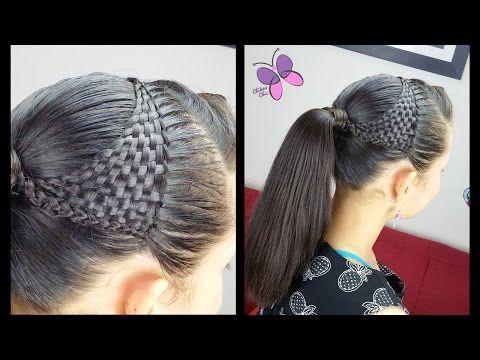 Cola Panal de Abejas - Honeycomb Ponytail | Peinados con Trenzas | Peinados Elegantes - YouTube
