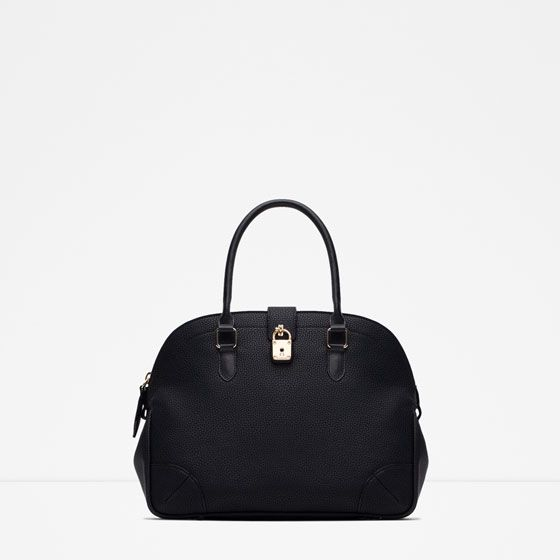 Image 1 of CITY BAG WITH LOCK from Zara