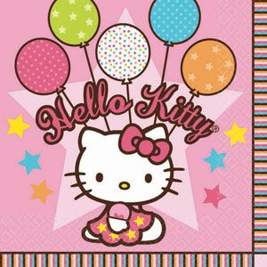 A519303 - Hello Kitty Luncheon Napkins Please note: approx. 14 day delivery time. www.facebook.com/popitinaboxbusiness