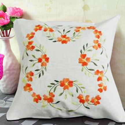 Exclusive range of embroidered cushion covers in cotton by the local artisans of kolkata. https://www.indianshelf.com/category/bed-and-table-linen/