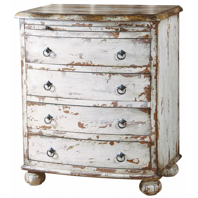 painted distressed antique white chest chalk paint