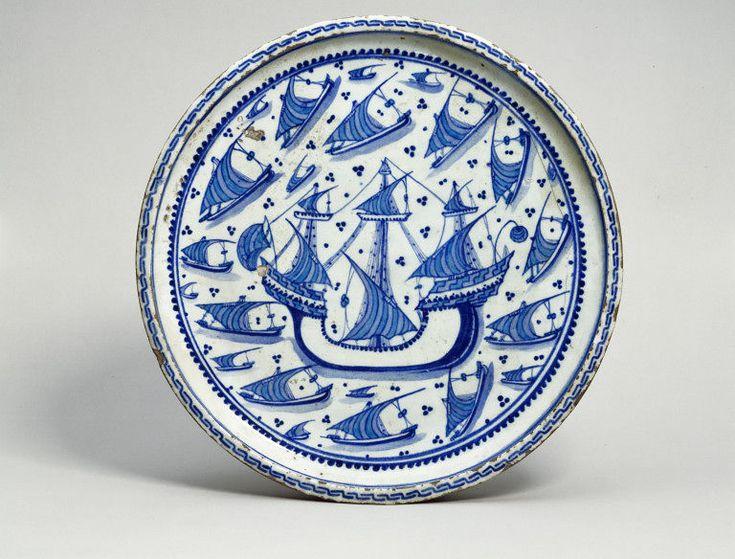 Dish      Place of origin:      Turkey (probably Iznik, made)     Date:      1535-1545 (made)     Artist/Maker:      Unknown (prod...