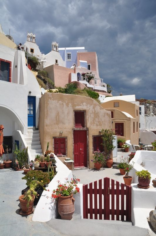 We called that blue building at the top of the hill home for four days last October...Oia, Santorini, Greece