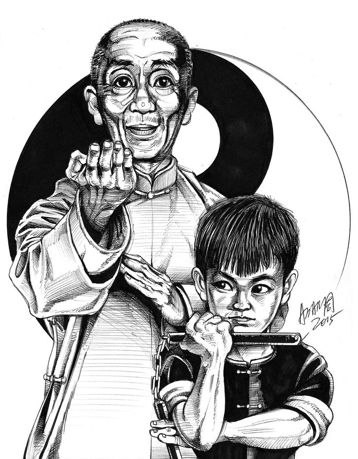 Grandmaster & little genius by Adam Chow