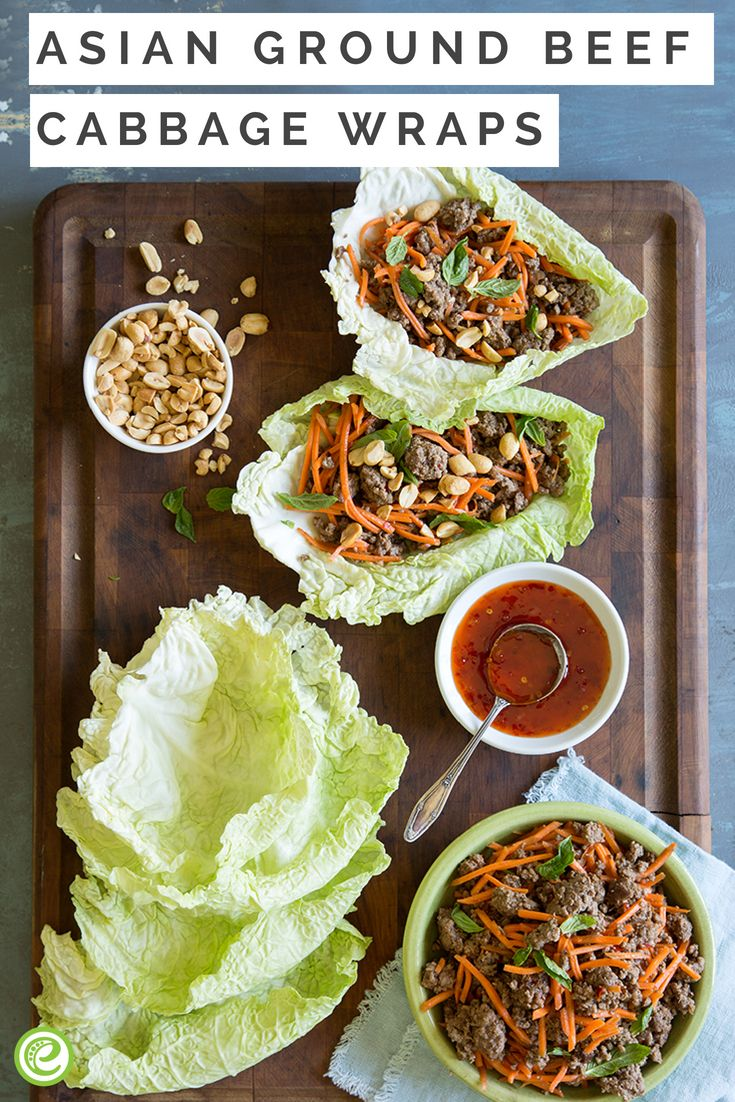 Asian Ground Beef Cabbage Wraps Recipe Cabbage Wraps Ground Beef And Cabbage Ground Pork Recipes