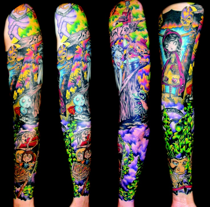 Jessi Lawson Artist I Love The Bright Colors: Sleeve Inspired By Fun And Tim Burton!
