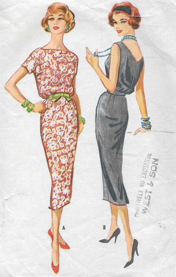 Vintage 1950s McCall's Sewing Pattern 4477  by SewAddicted2SewMuch