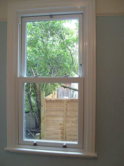 Pvc U Sash Window With Timber Architraves Window Board