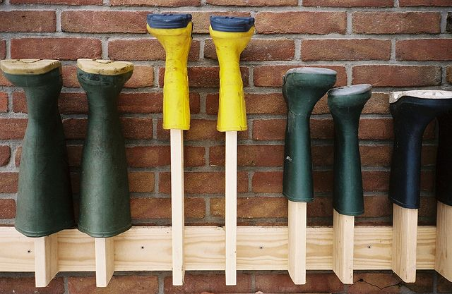 Wellington Boot rack, via Flickr.