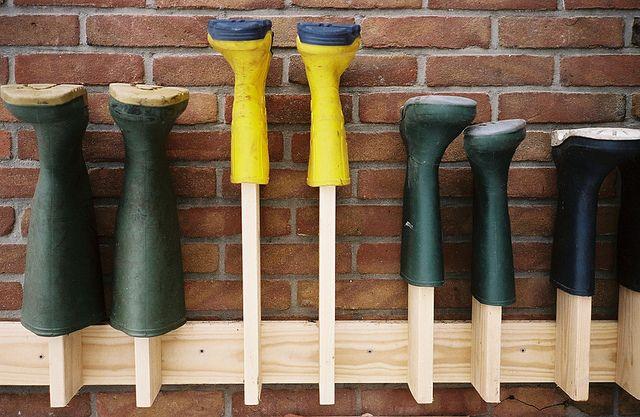 support pour bottes de pluie