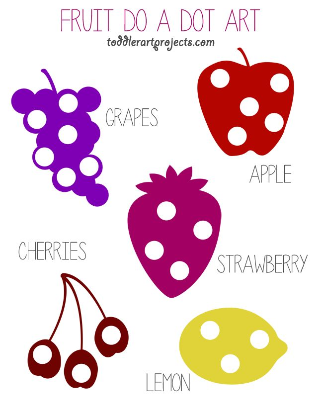 Free Fruit Do A Dot Printable - Toddler Art Projects