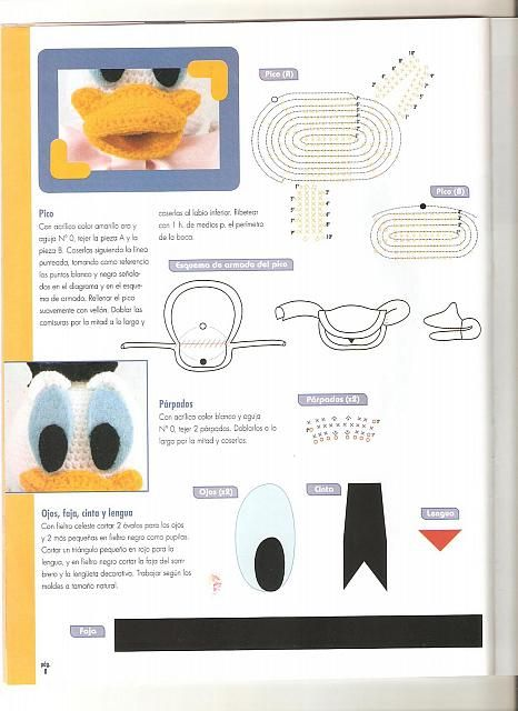 Paperino disney donald duck amigurumi 2 - magiedifilo.it punto croce uncinetto schemi gratis hobby creativi
