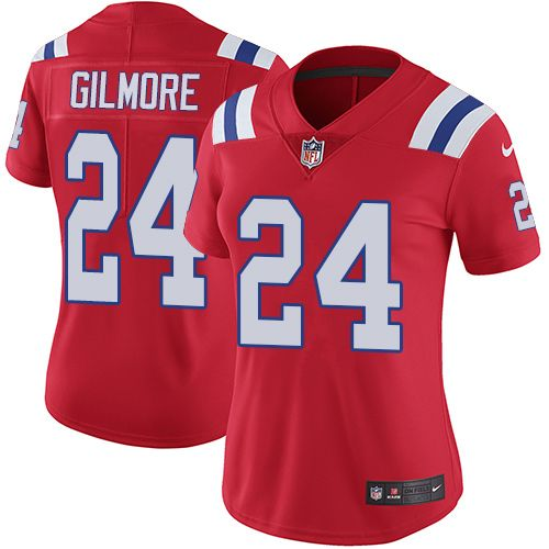 Nike Patriots #24 Stephon Gilmore Red Alternate Women's Stitched NFL Vapor Untouchable Limited Jersey And #nfl shop