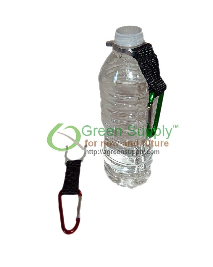 Bottle Holder with Aluminum Carabiner Attachment/ Keychain for only $3.95