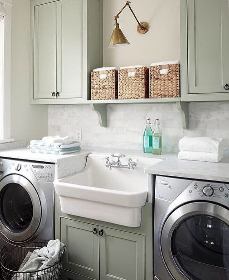I love the idea of this style of sink in the middle of the washer and dryer, or any sink for that matter, smart