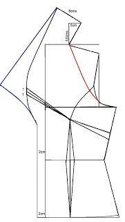 El costurero de Stella: Trazo de la blusa con cuello smoking