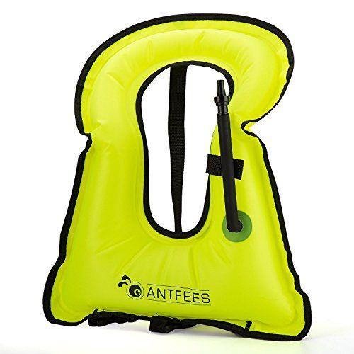 ANTFEES Snorkel or Snorkeling Vest -Inflatable Life Snorkel Vest Jacket for Dive Safety