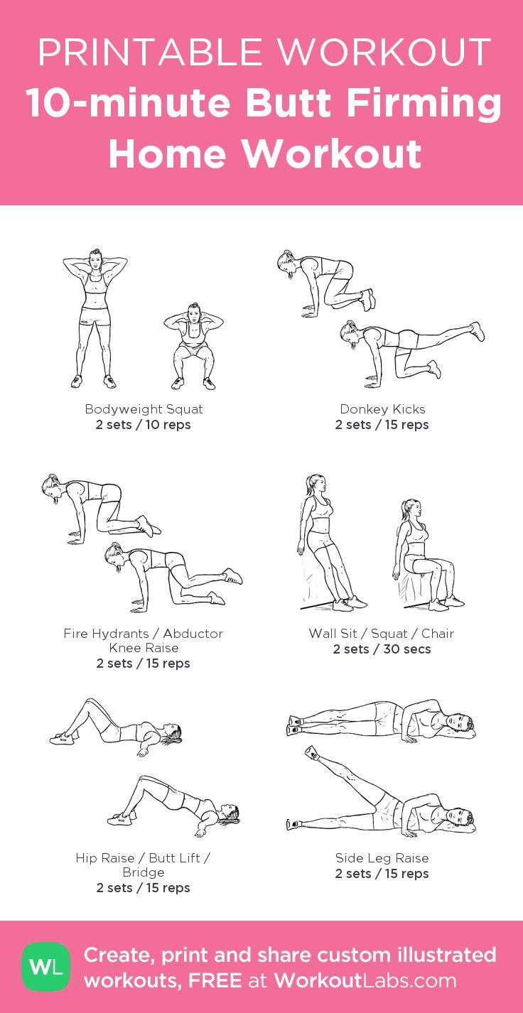 en 10 minutes, des exercices simples à faire à la maison! PDF à télécharger ♥