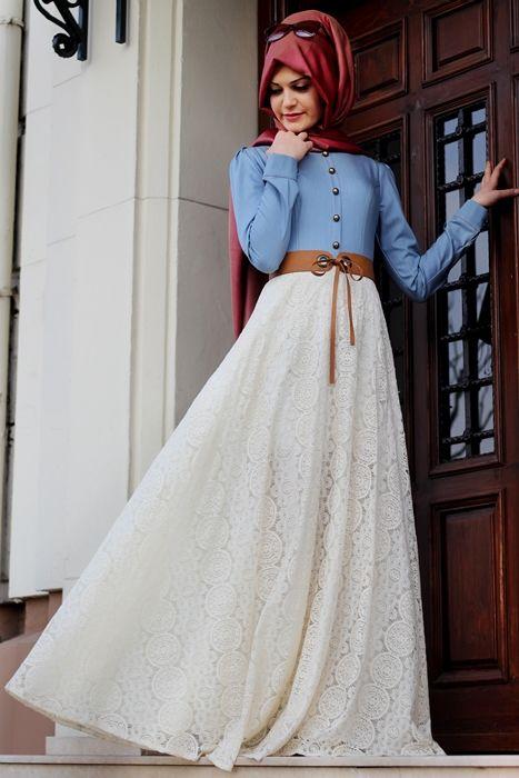 Gamze Polat Krem Dantel Etekli Elbise