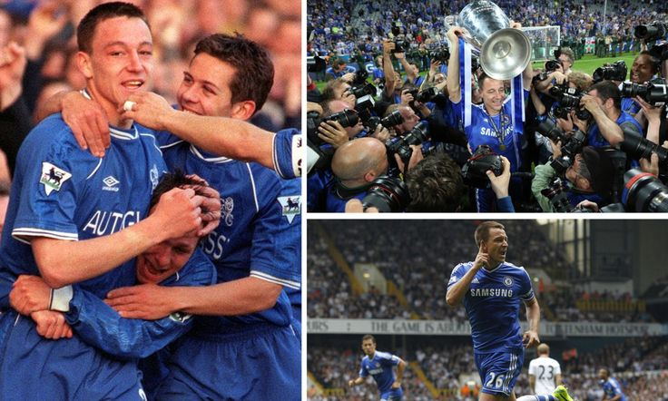 After John Terry finally called time on his glittering career at Stamford Bridge, Sportsmail digs through the archives and finds 22 incredible pictures from down the years.
