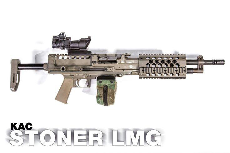 [Gun] Billed by KAC as the lightest 5.mm light machine gun, the Stoner LMG - Imgur