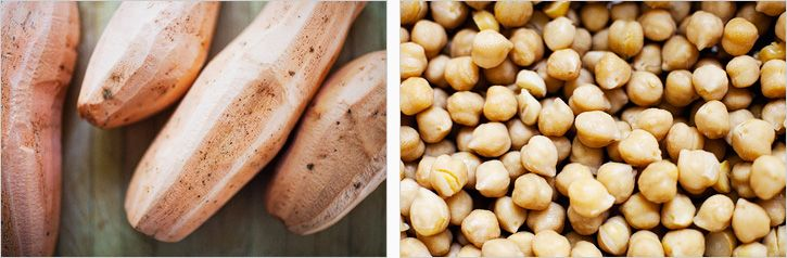 spiced sweet potatoes + chickpeas | food | Pinterest