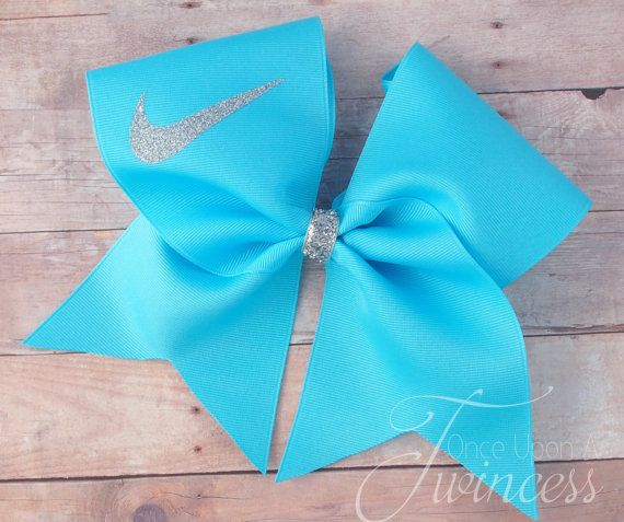 Cheer Bow, mystic blue, bows for cheer teams, gifts for cheerleaders, blue cheer bow,