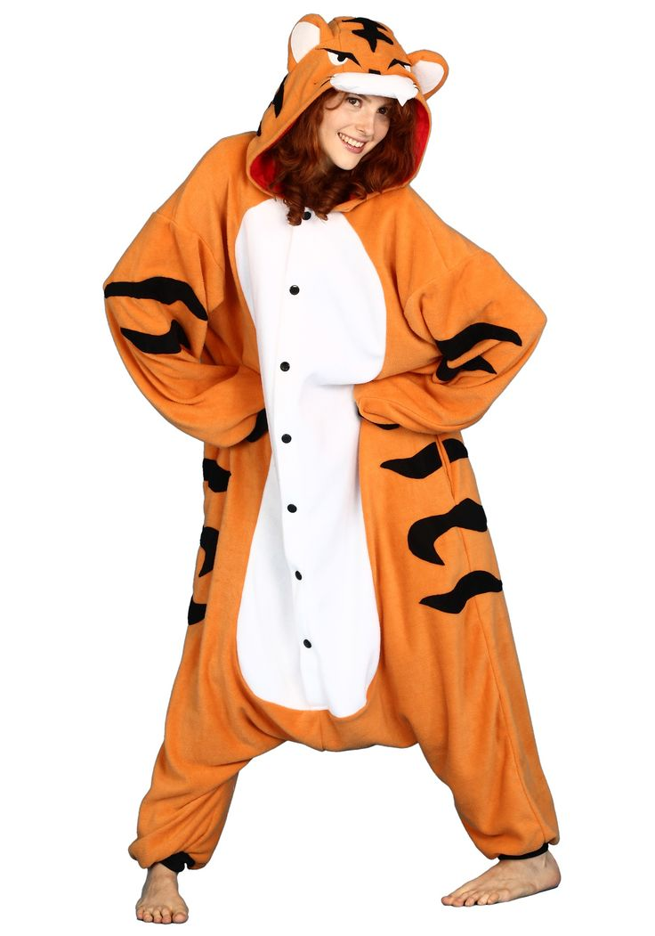 Pajama Tiger Halloween Costume Available on TrendyHalloween.com  #Pjs #Tigger #Tiger #Onesie