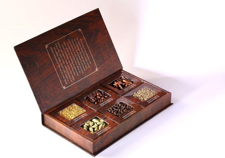Flavourit Book of Spices In (cardamom, black pepper, white pepper, clove, star anise, cumin)  $36.00