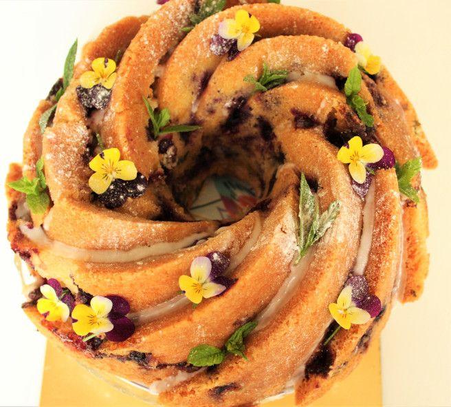 Image result for bundt cake edible flowers