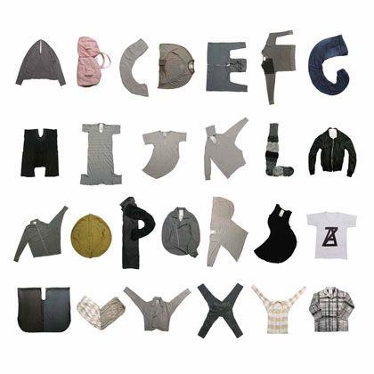 Clothes typography