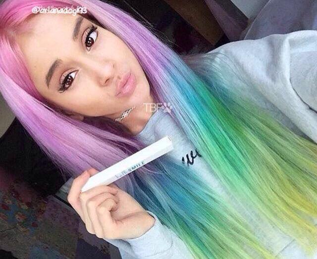 rainbow hair arianadogi93