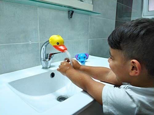 Rafalife Bath Toys Faucet Extender Animal Spout Sink Handle