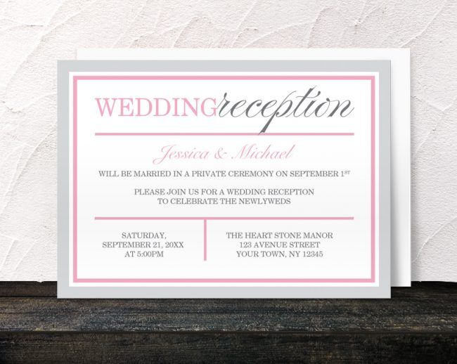 28 best invitations images on Pinterest Wedding reception