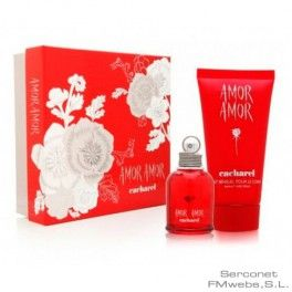 AMOR AMOR CACHAREL 30ML + B50 , Set regalo compuesto por Amor Amor de Cacharel 30 ml + Body Milk 50 ml