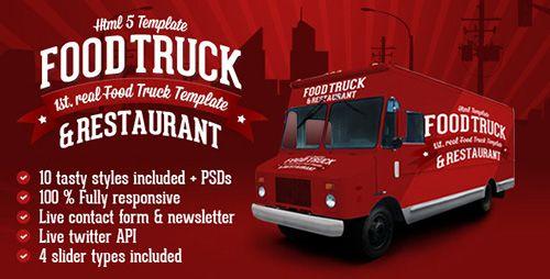 ThemeForest - Food Truck & Restaurant 10 Styles - HTML5 Template - RIP