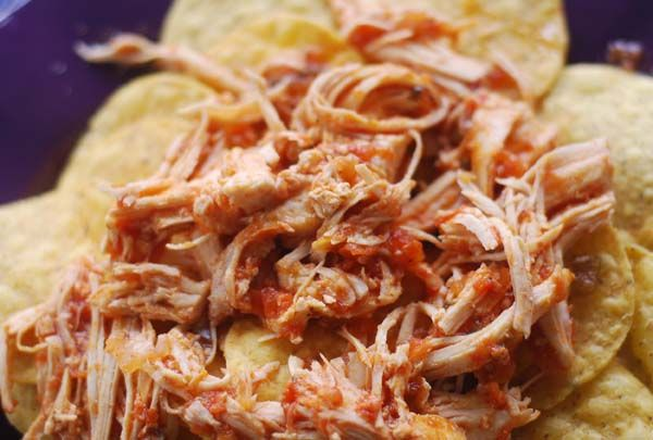 Weight Watchers Crock Pot Salsa Chicken!  Yum!  Low Fat Can Be Delish!