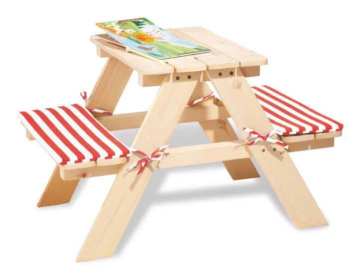 PINOLINO Table de Jardin pour 2 Enfants - Dès 2 ans