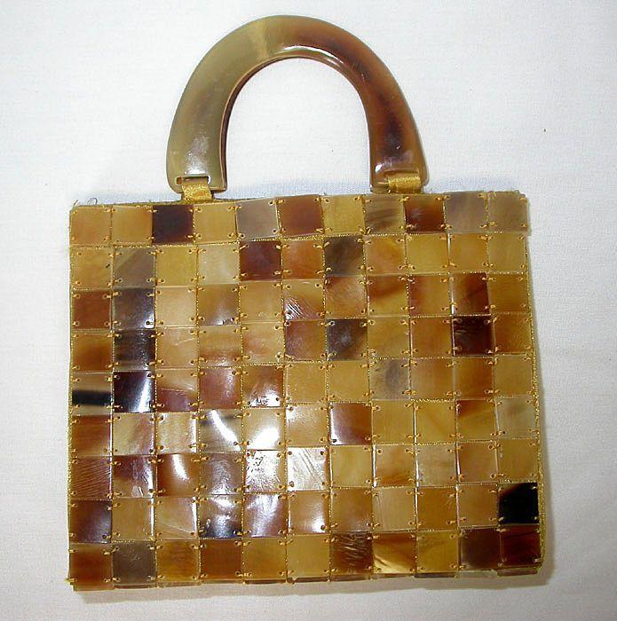 Vintage Blond Tortoise Shell Handbag Pre Ban Purses In 2018 Handbags