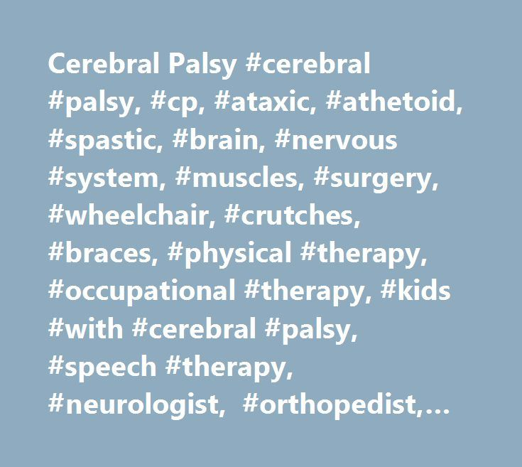 Speech Disorder and Cerebral Palsy