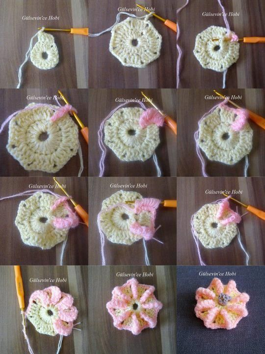 Bullion Stitch Flower