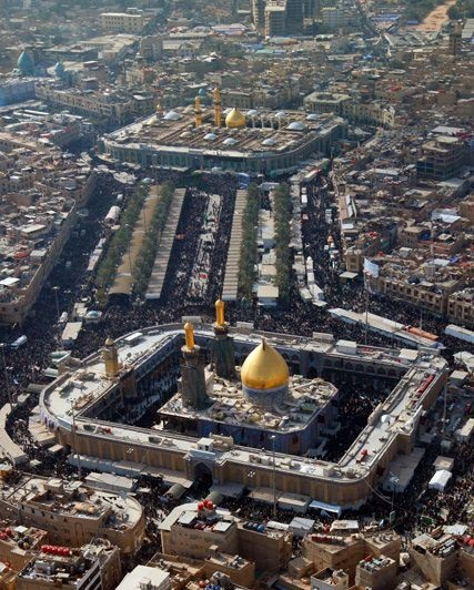 Karbala, Iraq  The shrines of AlImam Alhussain and AlAbbas