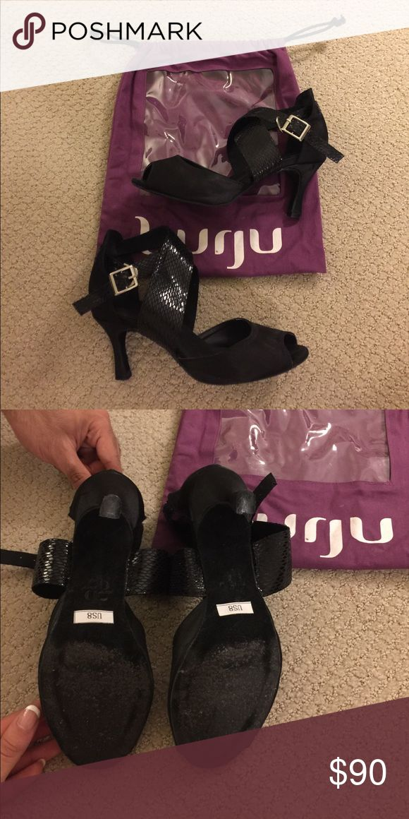 Burju Latin salsa bachata dance shoes Very high quality Latin dance shoes. Size 8, worn only 3 times for performances. Make an offer! burju Shoes Sandals
