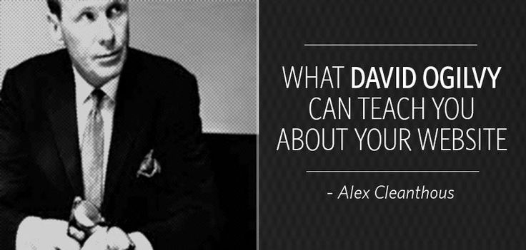 Our Chief Strategist, Alex Cleanthous looks at where businesses are going wrong with their #website design, and what#DavidOgilvy can teach you about #marketing... http://bigly.co/alexmarketing