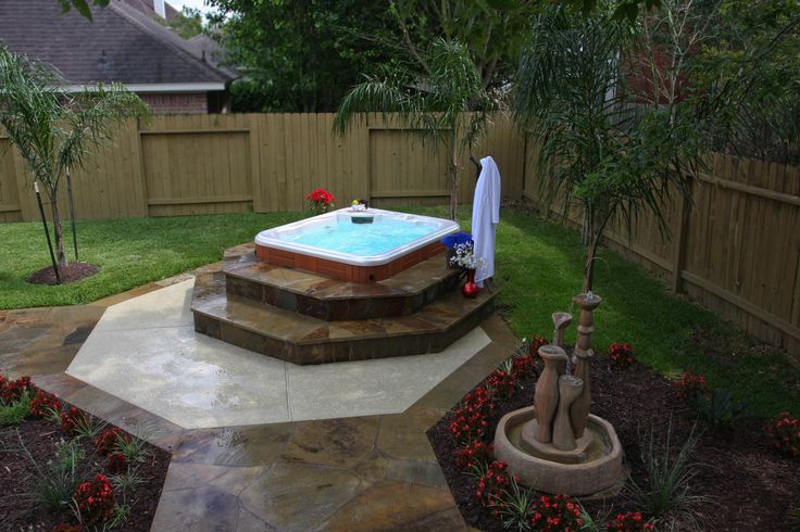 Landscaping hot tub pictures solutions custom for Hot tub landscape design