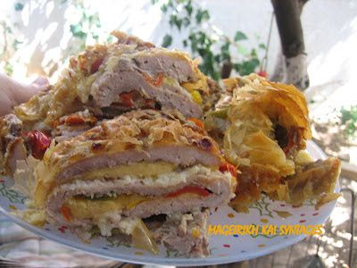 Χοιρινά σνίτσελ ρολό με πιπεριές και τυρί souper!! ~ ΜΑΓΕΙΡΙΚΗ ΚΑΙ ΣΥΝΤΑΓΕΣ